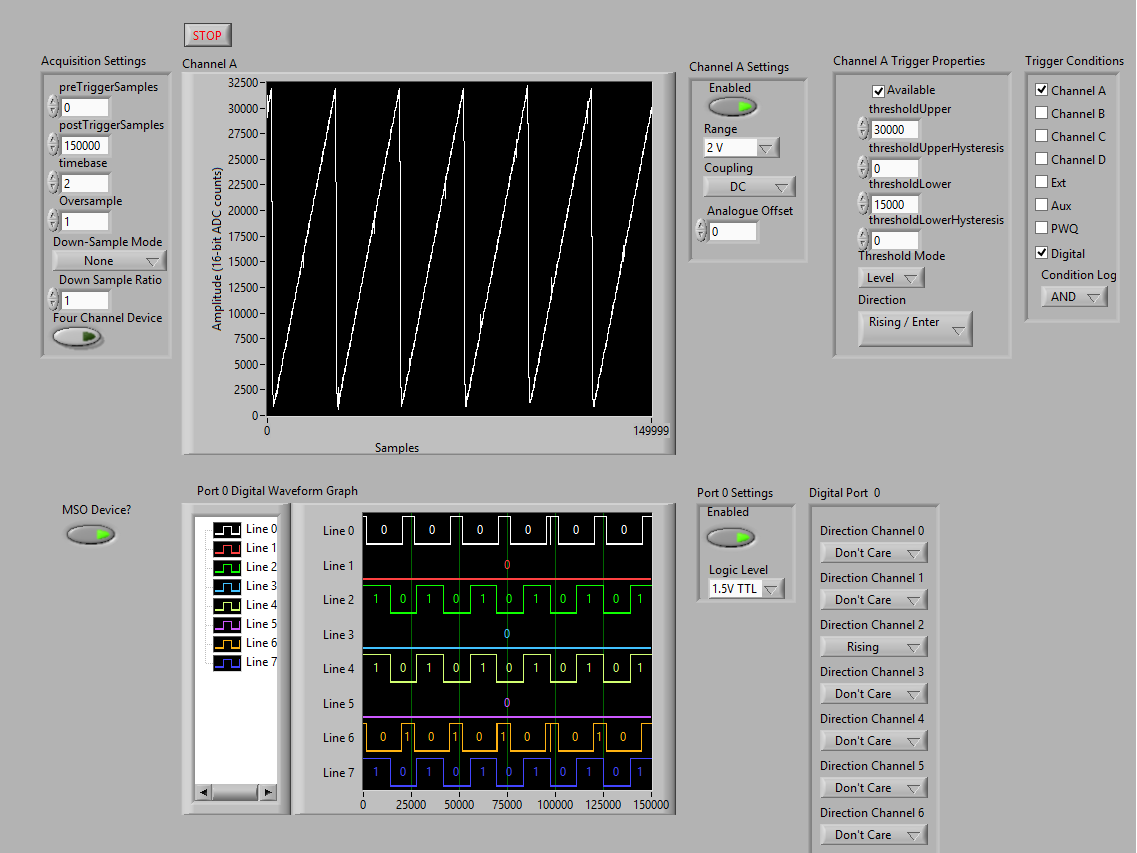 LabVIEW SDK Advanced Triggers Block Example Mixed signal