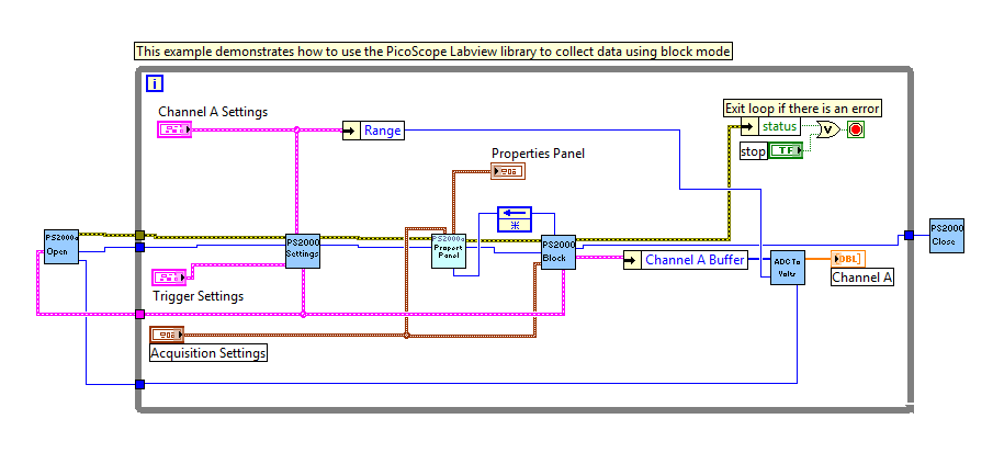 LabVIEW – introduction to SDK examples