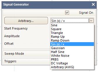 Arbitrary waveform generator (AWG)
