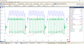 Initial waveforms captured on ISL9120 evaluation board overlaid