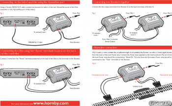 Connection options for the Hornby Booster unit