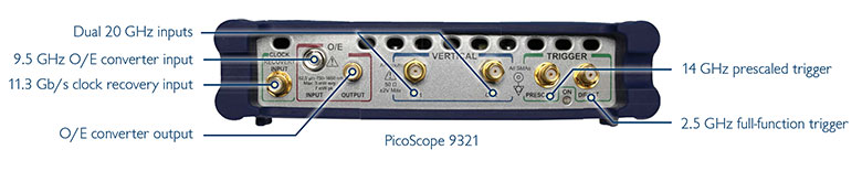 PicoScope 9321 sampling oscilloscope with optical input