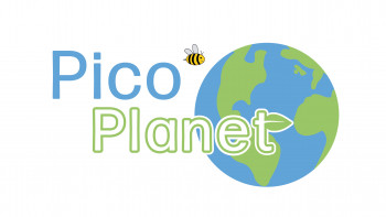 Pico Planet logo - title of the environmental awareness and action program running at Pico Technology Ltd.