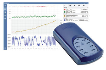 TC-08 temperature data logger and PicoLog 6 software