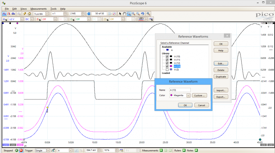 PicoScope 4444 software