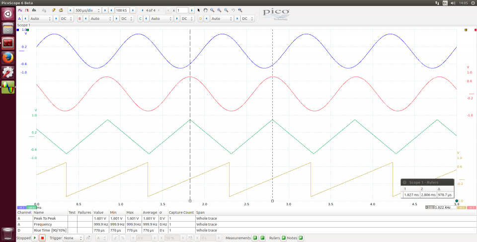 Linux Software & Drivers for Oscilloscopes and Data Loggers