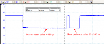 1-Wire pulse timing