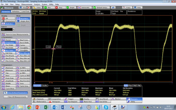 125 MHz clock characterization with PicoSample