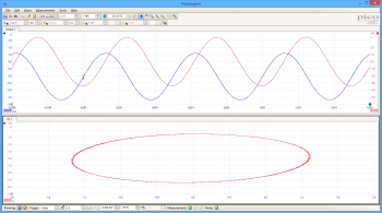 oscilloscope xy mode