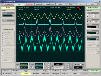 sampling oscilloscope maths functions