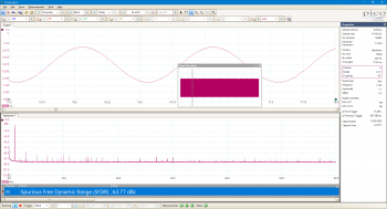PicoScope 6000E screenshot with SFDR measurement