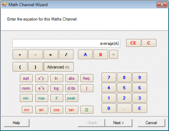 The math channels wizard in PicoScope 6 oscilloscope software