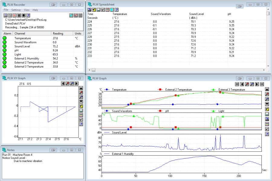 Data Acquisition Software : Current power data logger software