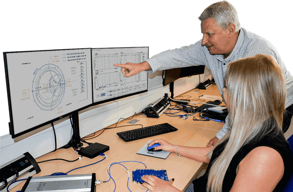 Teacher and Student using a PicoVNA 106 with the Network Metrology Training kit